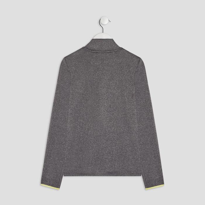 Blouson droit zippé fille gris