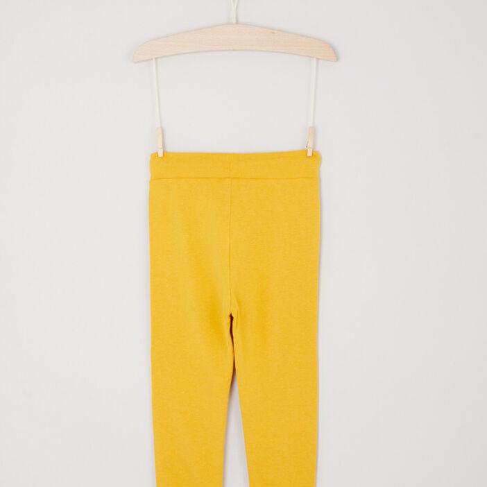 Jogging uni poches italiennes garçon jaune moutarde