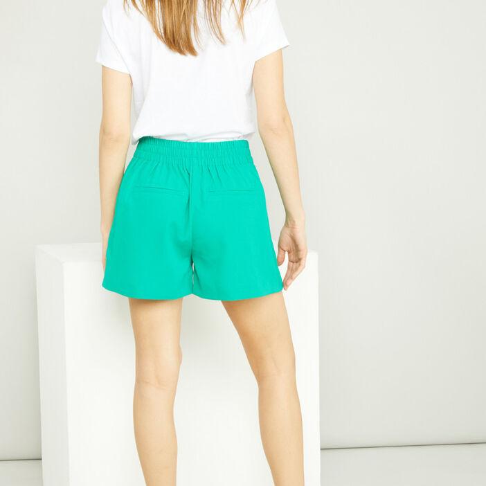 Short, Bermuda femme vert