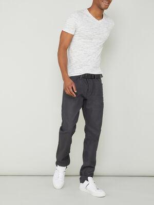 Pantalon coupe straight gris fonce homme