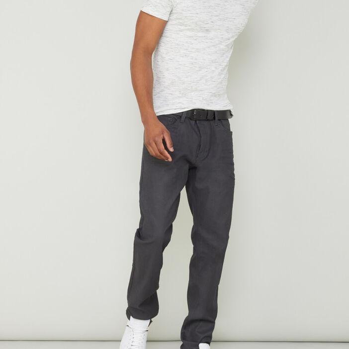 Pantalon coupe straight homme gris foncé