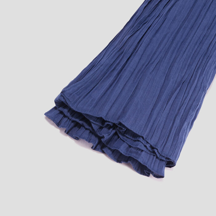 Foulard femme bleu marine
