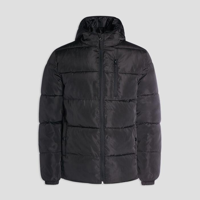 Doudoune droite zippée homme noir
