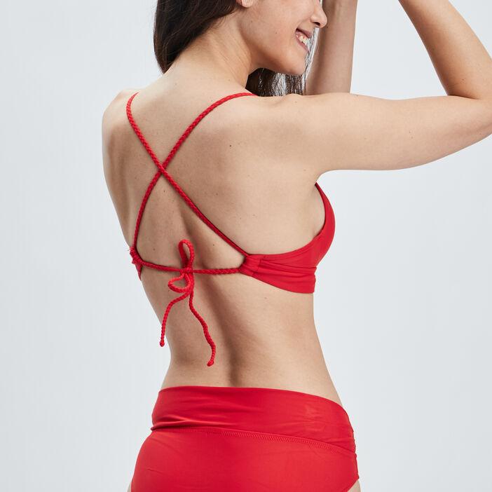Haut de maillot de bain femme rouge