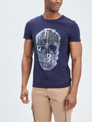 T shirt Liberto bleu marine homme