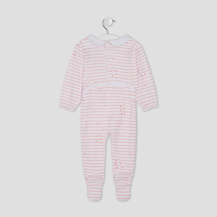 Dors-bien avec col claudine bébé fille rose clair