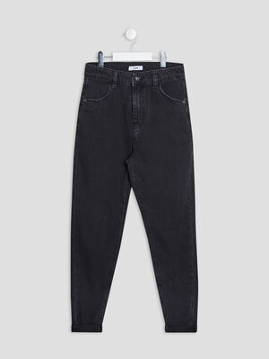 Jeans mom denim snow noir fille