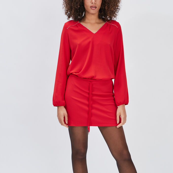 Robe droite Mosquitos femme rouge