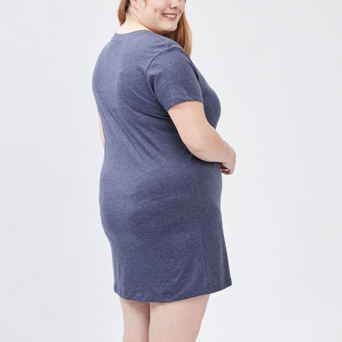 Chemise de nuit grande taille femme grande taille bleu