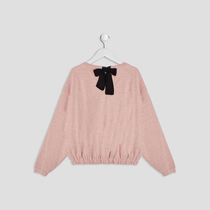 Pull avec noeud Liberto fille rose