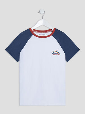 T shirt manches courtes Creeks blanc garcon