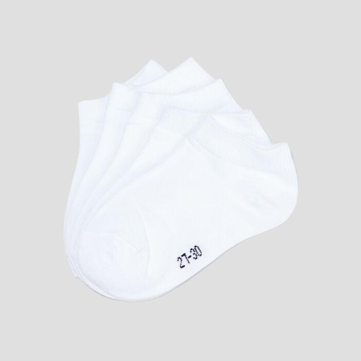 Lot 5 paires socquettes fille blanc