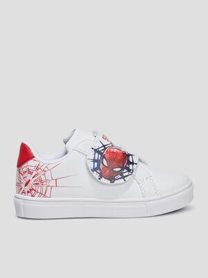 Tennis Spider Man blanc garcon