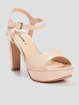 Sandales a talons rose femme