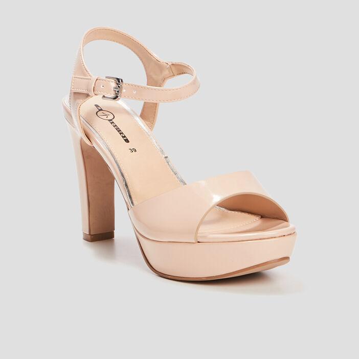 Sandales à talons femme rose