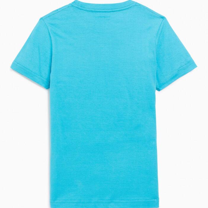 T-shirt basique en coton garçon bleu turquoise