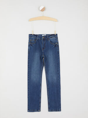 Jean slim poches rivetees denim stone garcon