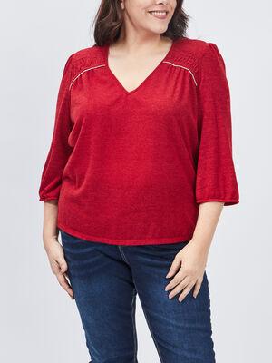 Pull grande taille rouge femmegt