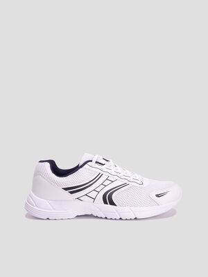 Baskets running blanc homme