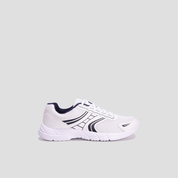 Baskets running homme blanc