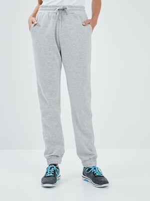 Joggings droit gris clair femme
