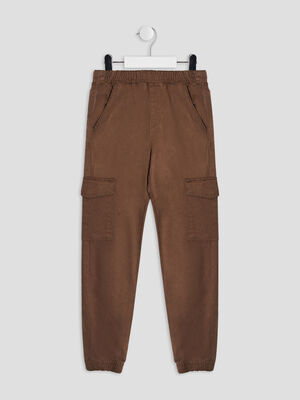 Pantalon battle couleur bronze garcon