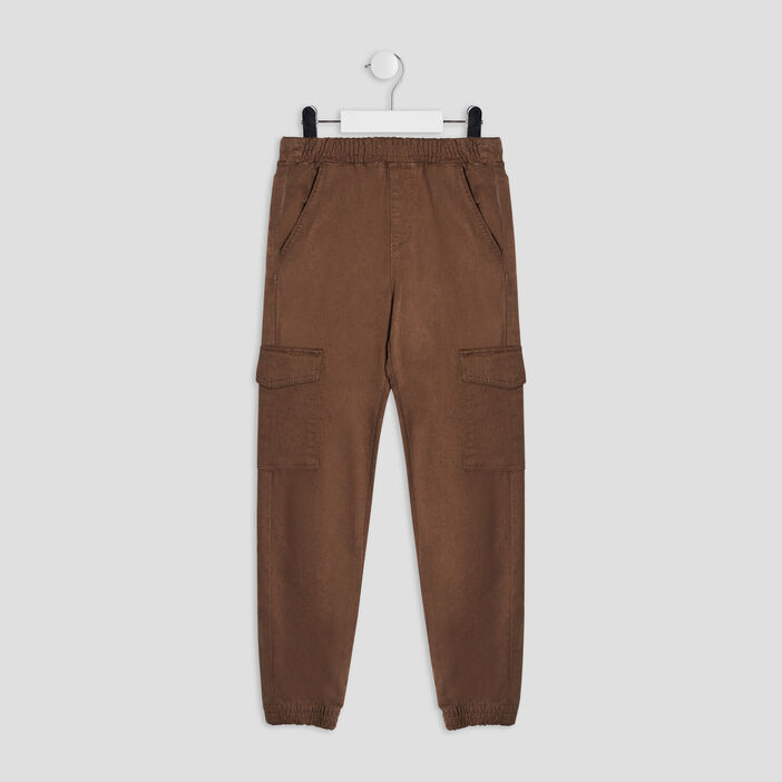 Pantalon battle garçon couleur bronze