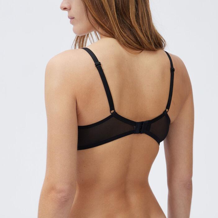 Soutien-gorge bandeau femme noir