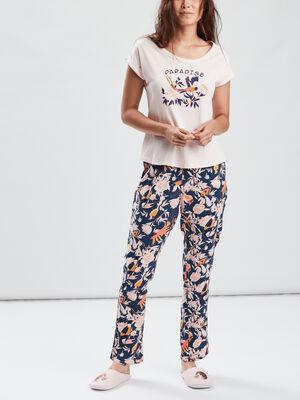 Ensemble pyjama 2 pieces rose femme