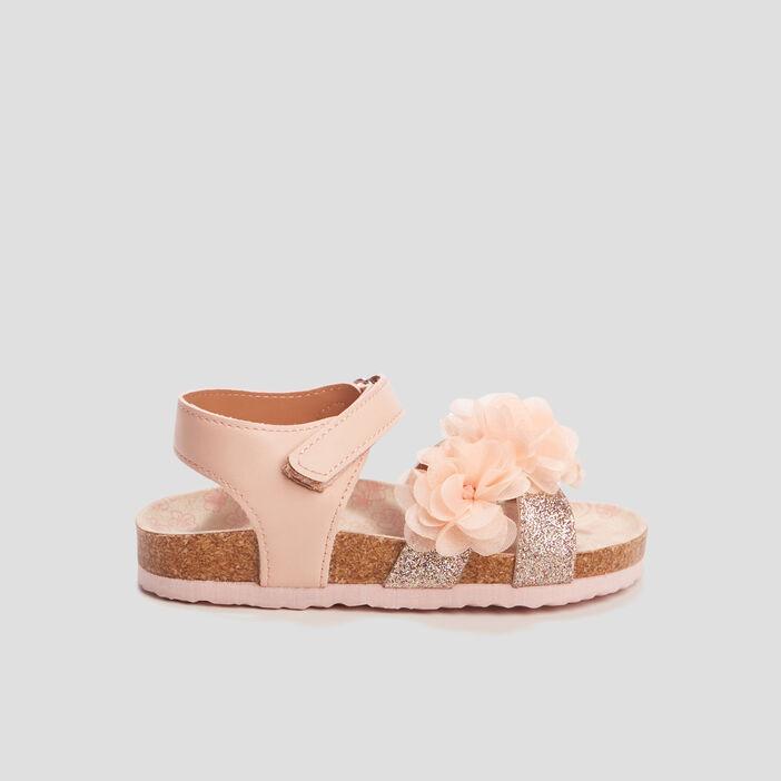 Sandales à froufrous fille rose