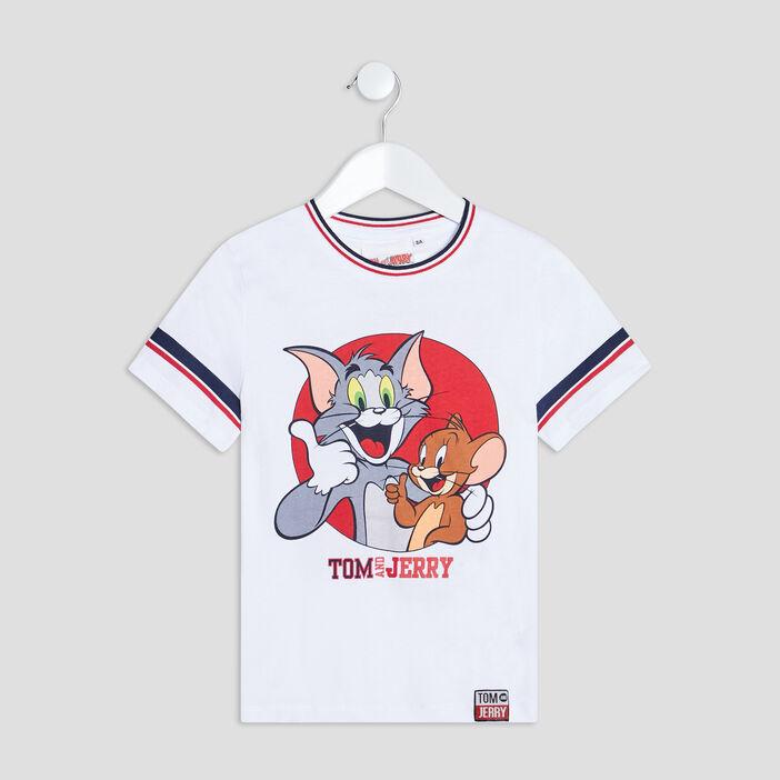 T-shirt Tom et Jerry garçon blanc