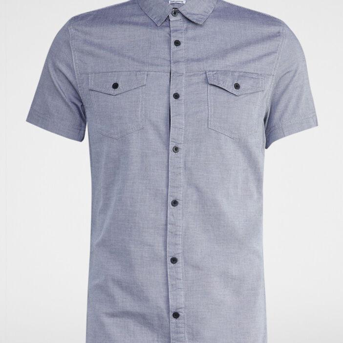 Chemise ajustée en coton homme gris clair