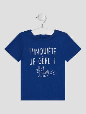 T shirt Pat et Ripaton bleu roi bebeg