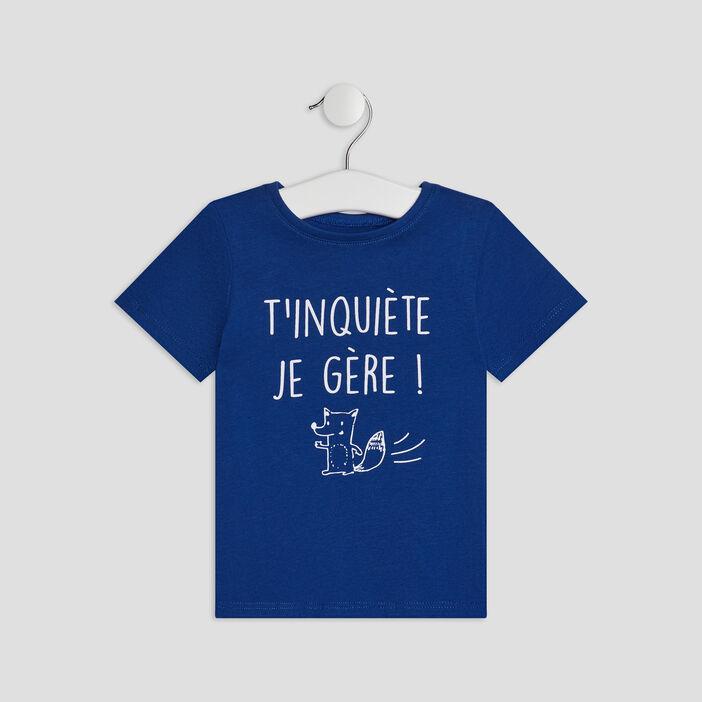 T-shirt Pat et Ripaton bébé garçon bleu roi