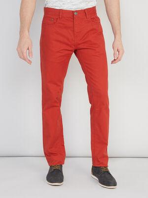 Pantalon en coton droit rouge homme
