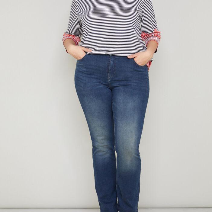 Jean coton majoritaire grande taille femme denim dirty