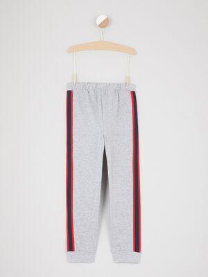 Pantalon de jogging taille elastiquee gris fille