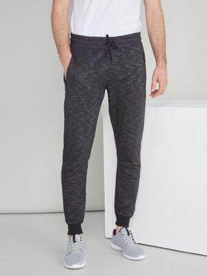 Jogging chine coton melange noir homme