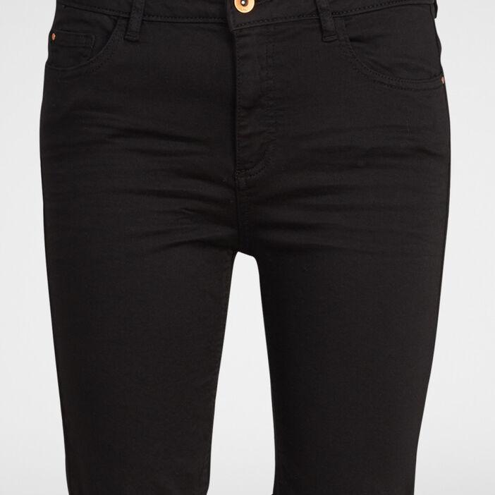 Bermuda 5 poches uni femme noir