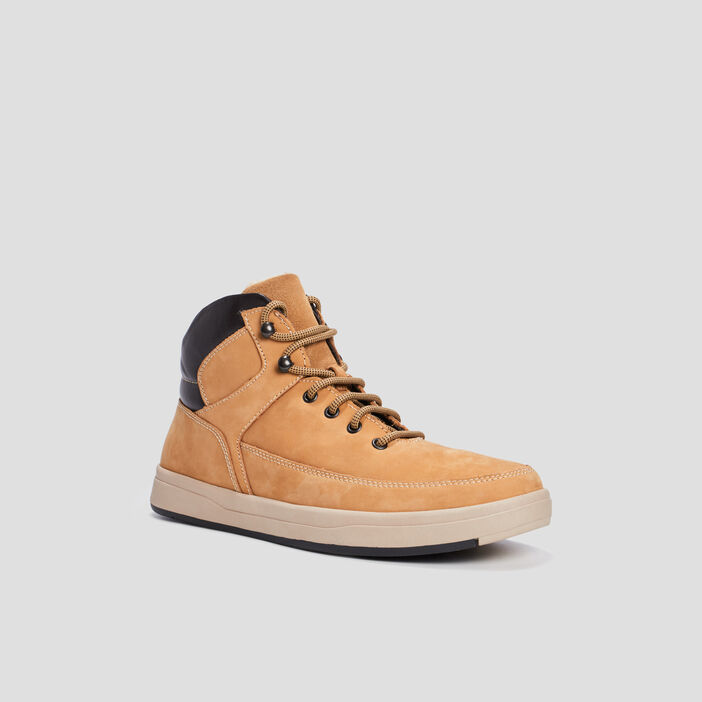 Bottines à lacets homme jaune