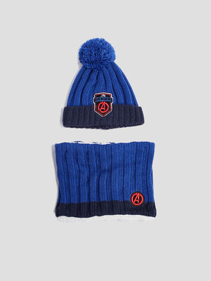 Lot bonnet et snood Avengers multicolore