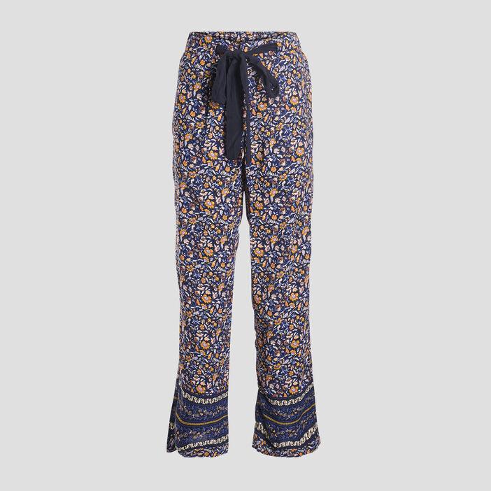 Pantalon large fluide femme multicolore