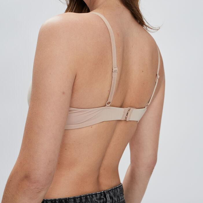 Soutien-gorge corbeille microfibre femme beige