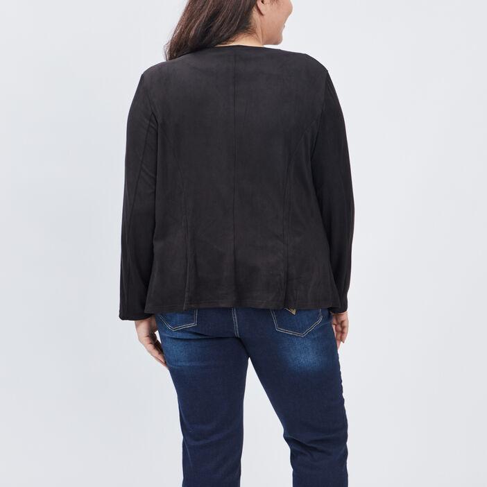 Veste ample grande taille femme grande taille noir