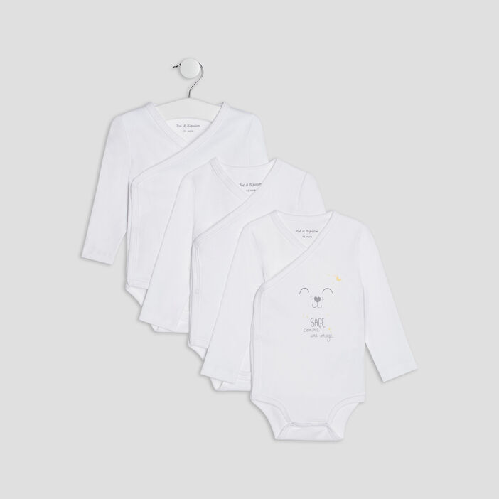 Lot 3 body mixte blanc