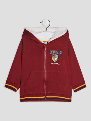Gilet a capuche Harry Potter bordeaux bebeg