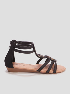 Sandales a strass Liberto noir fille