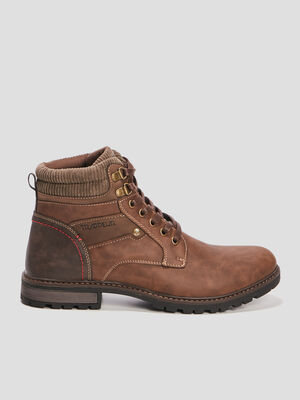 Bottines crantees Trappeur marron homme