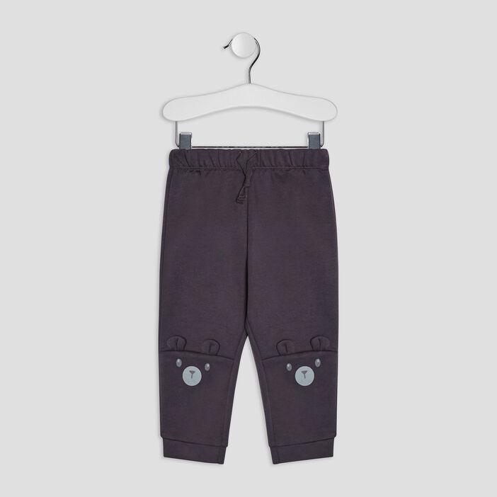 Pantalon jogging bébé garçon gris foncé
