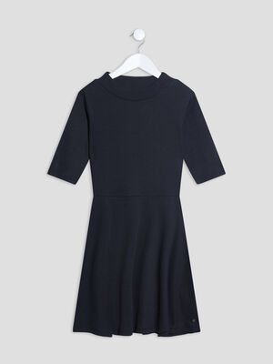 Robe patineuse manches 34 noir fille
